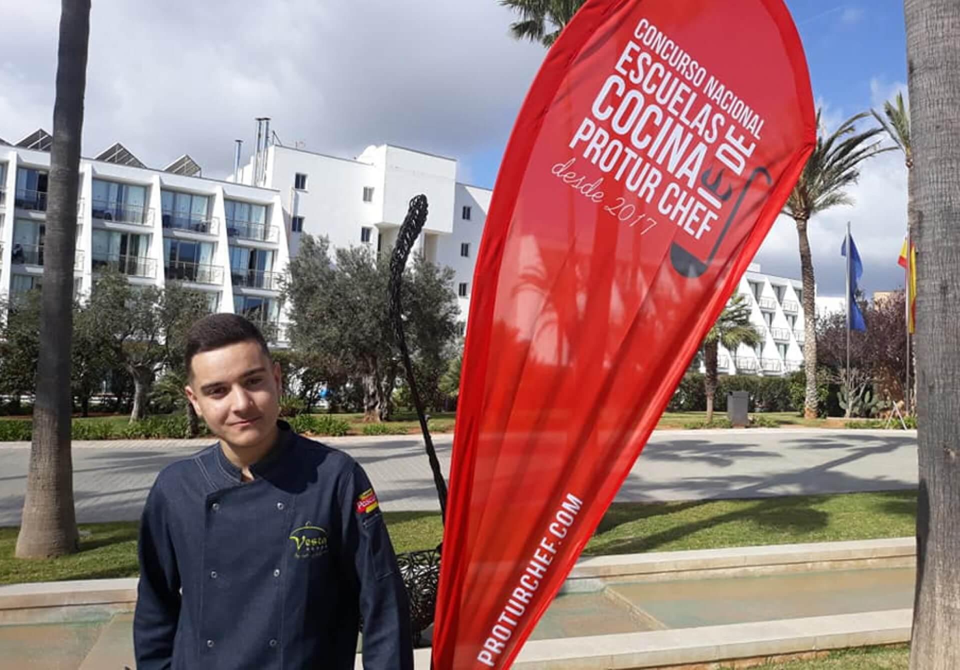 Pablo, alumno de Vesta, finalista en Proturchef